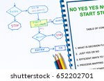efficient flowchart lecture ... | Shutterstock . vector #652202701