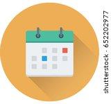 calendar vector icon | Shutterstock .eps vector #652202977