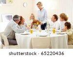 portrait of big family sitting...   Shutterstock . vector #65220436