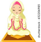 muslim girl sitting on the... | Shutterstock . vector #652206985