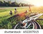 father and son rest together in ... | Shutterstock . vector #652207015