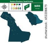 vector map of eastern province... | Shutterstock .eps vector #652208875