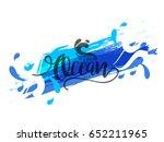 illustration of world ocean day. | Shutterstock .eps vector #652211965