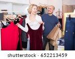 couple choosing new fancy dress ... | Shutterstock . vector #652213459