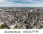 aerial view of nantes downtown | Shutterstock . vector #652217779