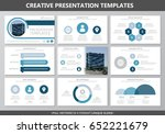 set of gray and blue elements... | Shutterstock .eps vector #652221679
