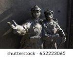 statue as communist propaganda  ...   Shutterstock . vector #652223065