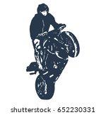stunt rider | Shutterstock .eps vector #652230331