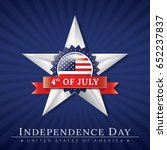 independence day star | Shutterstock .eps vector #652237837