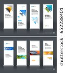 abstract business vector set of ... | Shutterstock .eps vector #652238401