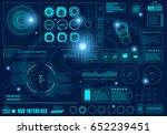 futuristic virtual graphic... | Shutterstock .eps vector #652239451