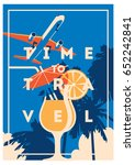 time to travel and summer... | Shutterstock .eps vector #652242841