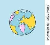 hand drawn earth | Shutterstock .eps vector #652249057