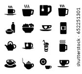 tea icons set. set of 16 tea... | Shutterstock .eps vector #652251301