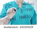 Small photo of Chemical formula of Panadol and Paracetamol.