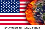 climate change and american... | Shutterstock . vector #652254835