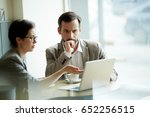 young businessman and... | Shutterstock . vector #652256515
