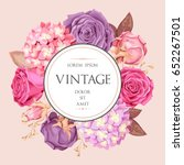 vintage wedding invitation | Shutterstock .eps vector #652267501