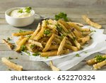 homemade parmesan truffle...   Shutterstock . vector #652270324