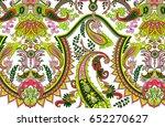 luxury multicolor paisley  | Shutterstock . vector #652270627