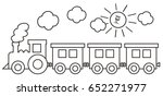 train and sad sun  coloring... | Shutterstock .eps vector #652271977