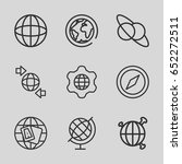 geography icons set. set of 9... | Shutterstock .eps vector #652272511