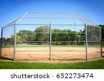 baseball field at park with... | Shutterstock . vector #652273474