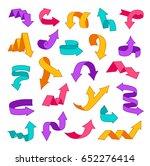 colorful arrows set. design... | Shutterstock .eps vector #652276414
