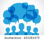 people chatting. vector... | Shutterstock .eps vector #652281475