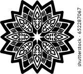 beautiful mandala pattern.... | Shutterstock .eps vector #652287067