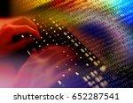 hacker writing malicious code... | Shutterstock . vector #652287541