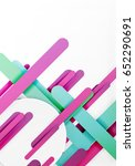 cut 3d paper color straight... | Shutterstock .eps vector #652290691