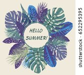 vector hello summer tropical... | Shutterstock .eps vector #652295395