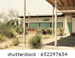 abandoned gas station west... | Shutterstock . vector #652297654
