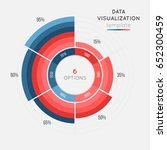 vector circle chart infographic ... | Shutterstock .eps vector #652300459