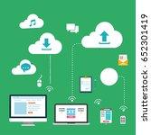cloud service concept design... | Shutterstock .eps vector #652301419