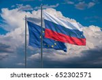 european union and russia flags ... | Shutterstock . vector #652302571