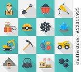 minig industry icon set ... | Shutterstock .eps vector #652311925