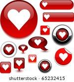 love vector glossy icons. | Shutterstock .eps vector #65232415