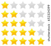 five star rating. different...   Shutterstock .eps vector #652324399