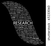 research. word collage on black ... | Shutterstock .eps vector #65233060