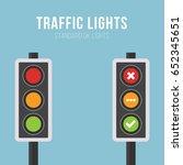 standard uk traffic lights...