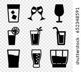cocktail icons set. set of 9... | Shutterstock .eps vector #652348591