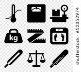 scale icons set. set of 9 scale ... | Shutterstock .eps vector #652352974