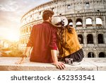 couple of tourist on vacation... | Shutterstock . vector #652353541