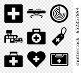 cross icons set. set of 9 cross ... | Shutterstock .eps vector #652357894