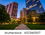 walkway and buildings at center ... | Shutterstock . vector #652360507
