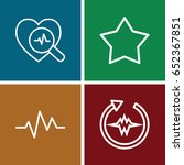 rate icons set. set of 4 rate...
