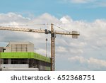 Image Of Yellow Tower Cranes...