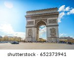the arc de triomphe de l' toile ... | Shutterstock . vector #652373941